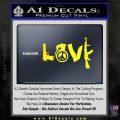 Gun Love Decal Sticker Yellow Laptop 120x120