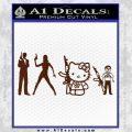 Gun People Decal Sticker BROWN Vinyl 120x120