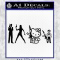 Gun People Decal Sticker Black Vinyl 120x120