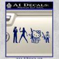 Gun People Decal Sticker Blue Vinyl 120x120