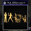 Gun People Decal Sticker Gold Vinyl 120x120