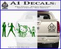 Gun People Decal Sticker Green Vinyl Logo 120x97