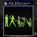 Gun People Decal Sticker Lime Green Vinyl 120x120