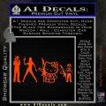 Gun People Decal Sticker Orange Emblem 120x120