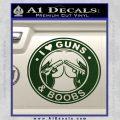 Guns And Boobs Starbucks Molon Labe Decal Sticker Dark Green Vinyl 120x120