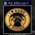 Guns And Boobs Starbucks Molon Labe Decal Sticker Gold Vinyl 120x120