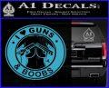 Guns And Boobs Starbucks Molon Labe Decal Sticker Light Blue Vinyl 120x97