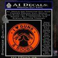 Guns And Boobs Starbucks Molon Labe Decal Sticker Orange Emblem 120x120