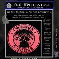 Guns And Boobs Starbucks Molon Labe Decal Sticker Pink Emblem 120x120