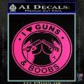 Guns And Boobs Starbucks Molon Labe Decal Sticker Pink Hot Vinyl 120x120