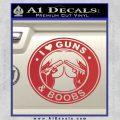 Guns And Boobs Starbucks Molon Labe Decal Sticker Red 120x120