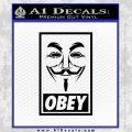 Guy Fawkes Anonymous Mask V Vendetta D7 Decal Sticker Obey Black Vinyl 120x120