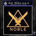 Halo Noble Team D1 Decal Sticker Gold Vinyl 120x120