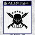 Halo Odst Helljumpers D1 Decal Sticker Black Vinyl 120x120