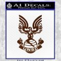 Halo Series United Nations Space Command Logo D1 Decal Sticker BROWN Vinyl 120x120