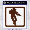 Halo Soldier Outline D2 Decal Sticker BROWN Vinyl 120x120