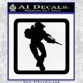 Halo Soldier Outline D2 Decal Sticker Black Vinyl 120x120