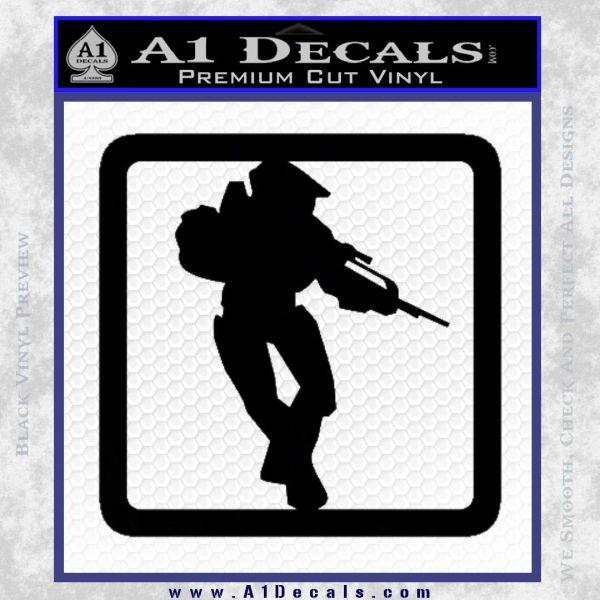 Halo Soldier Outline D2 Decal Sticker Black Vinyl