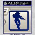 Halo Soldier Outline D2 Decal Sticker Blue Vinyl 120x120
