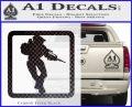 Halo Soldier Outline D2 Decal Sticker Carbon FIber Black Vinyl 120x97