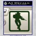 Halo Soldier Outline D2 Decal Sticker Dark Green Vinyl 120x120