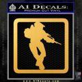 Halo Soldier Outline D2 Decal Sticker Gold Vinyl 120x120