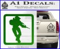 Halo Soldier Outline D2 Decal Sticker Green Vinyl Logo 120x97