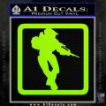 Halo Soldier Outline D2 Decal Sticker Lime Green Vinyl 120x120
