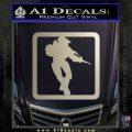 Halo Soldier Outline D2 Decal Sticker Metallic Silver Emblem 120x120