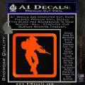 Halo Soldier Outline D2 Decal Sticker Orange Emblem 120x120
