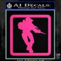 Halo Soldier Outline D2 Decal Sticker Pink Hot Vinyl 120x120