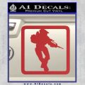 Halo Soldier Outline D2 Decal Sticker Red 120x120