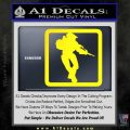Halo Soldier Outline D2 Decal Sticker Yellow Laptop 120x120