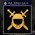 Halo Spartan Helmet Sticker Decal Gold Vinyl 120x120