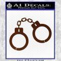 Hand Cuffs Decal Sticker Police BROWN Vinyl 120x120