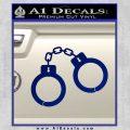 Hand Cuffs Decal Sticker Police Blue Vinyl 120x120