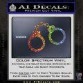 Hand Cuffs Decal Sticker Police Glitter Sparkle 120x120