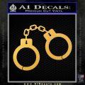 Hand Cuffs Decal Sticker Police Gold Vinyl 120x120