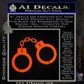 Hand Cuffs Decal Sticker Police Orange Emblem 120x120