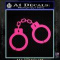 Hand Cuffs Decal Sticker Police Pink Hot Vinyl 120x120