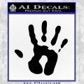 Handprint Decal Sticker Black Vinyl 120x120