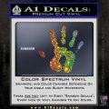 Handprint Decal Sticker Glitter Sparkle 120x120