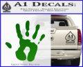 Handprint Decal Sticker Green Vinyl Logo 120x97