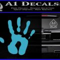 Handprint Decal Sticker Light Blue Vinyl 120x120