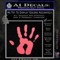 Handprint Decal Sticker Pink Emblem 120x120