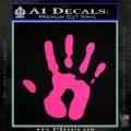 Handprint Decal Sticker Pink Hot Vinyl 120x120