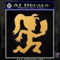 Hatchet Girl Decal Sticker ICP Gold Vinyl 120x120