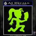 Hatchet Girl Decal Sticker ICP Lime Green Vinyl 120x120