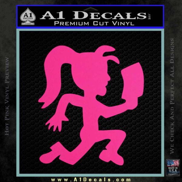 Hatchet Girl Decal Sticker ICP Pink Hot Vinyl