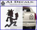 Hatchet Man Decal Sticker ICP Carbon FIber Black Vinyl 120x97